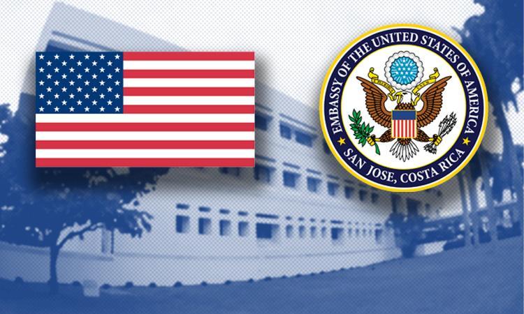 U.S. Embassy San Jose closed Thursday and Monday