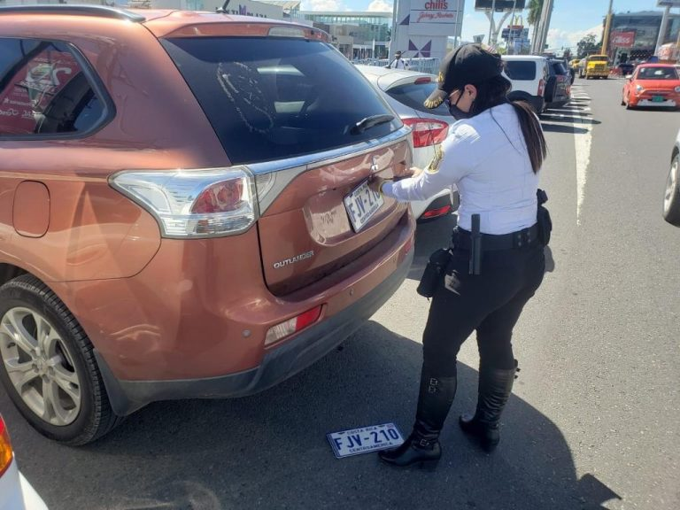 Traffic police seize more than 5,800 licence plates per month