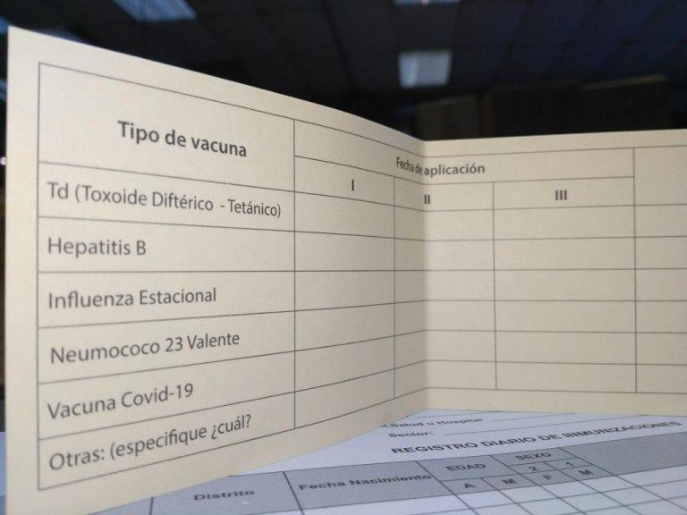 Covid-19 in Costa Rica: CCSS prepares 2.5 million vaccination cards for those immunized against covid-19