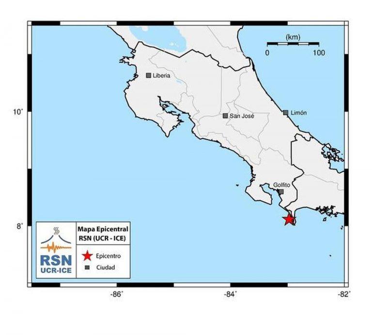5.5 earthquake shakes the border area between Costa Rica and Panama