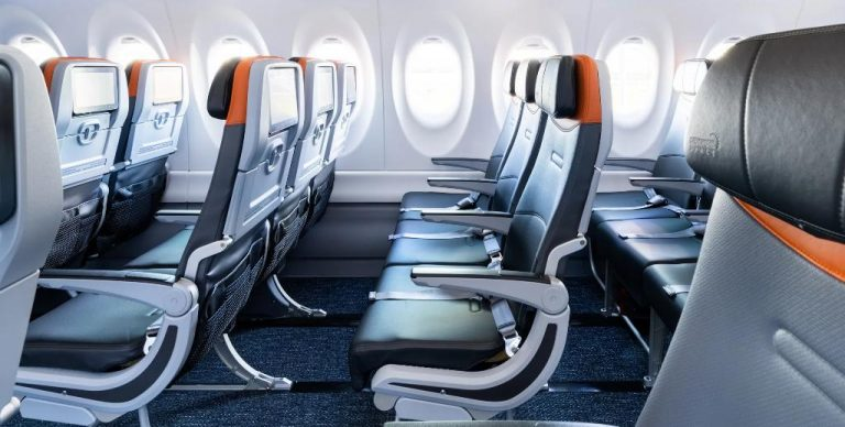 JetBlue newest plane with fewer rows of three seats