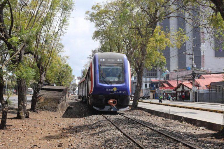 Commuter train undergoing testing