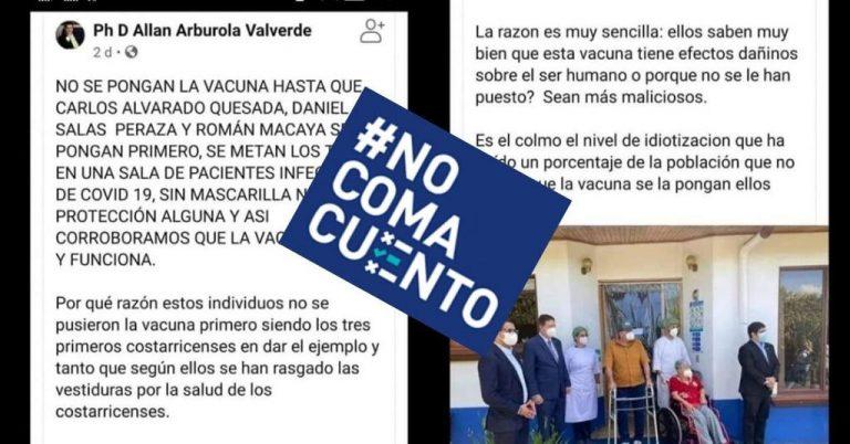 #DEBUNKED: Carlos Alvarado, Daniel Salas and Román Macaya will be vaccinated when it is their turn