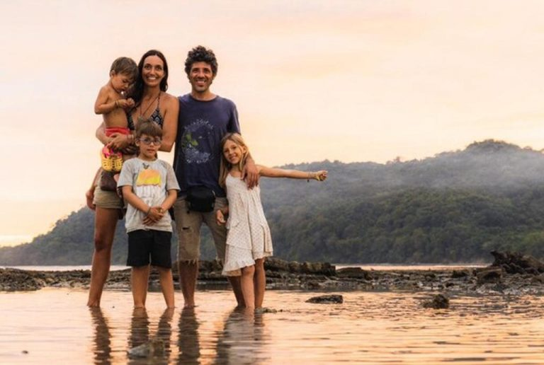 Spanish family trapped in Costa Rica returns to their camper and says goodbye