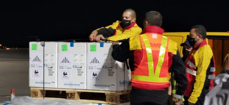 Costa Rica received a shipment of 110,000 vaccines against covid-19