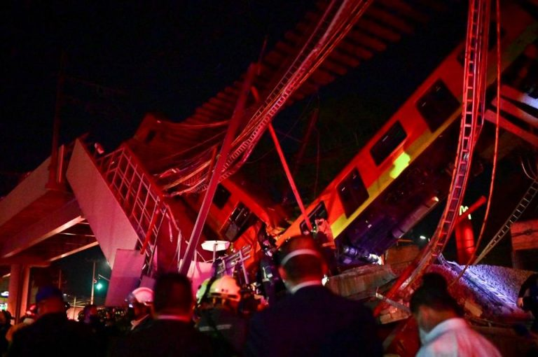 Mexico City: Metro train bridge collapse leaves 23 dead