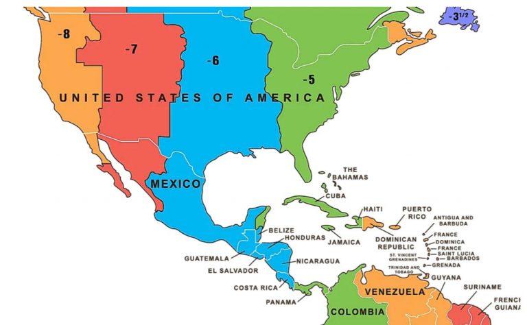 Time Zones In Central America