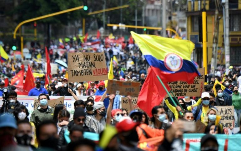 Colombia tax protests: six dead in clash with police for fourth day