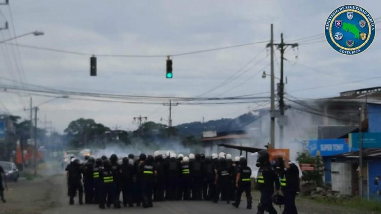 Protesters tried to block roads, but Police prevented closures