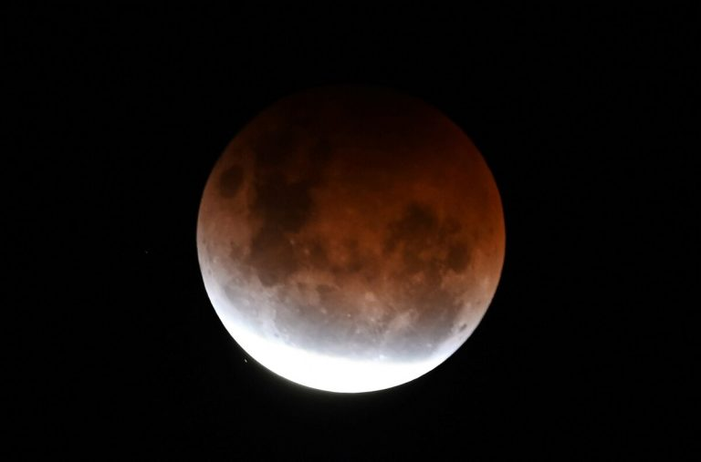 The spectacular 'Super Red Moon'