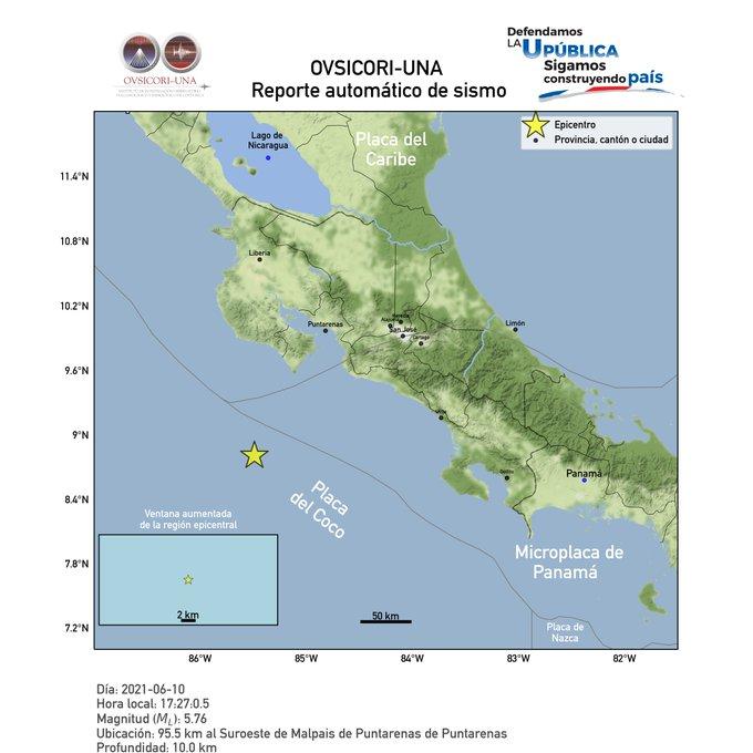 5.7 Quake jolts Costa Rica