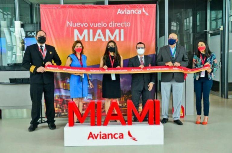 Avianca and Frontier inaugurate direct routes: San José-Miami and San José-Orlando