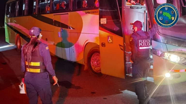 Foreigner suspected of transporting drugs by bus arrested