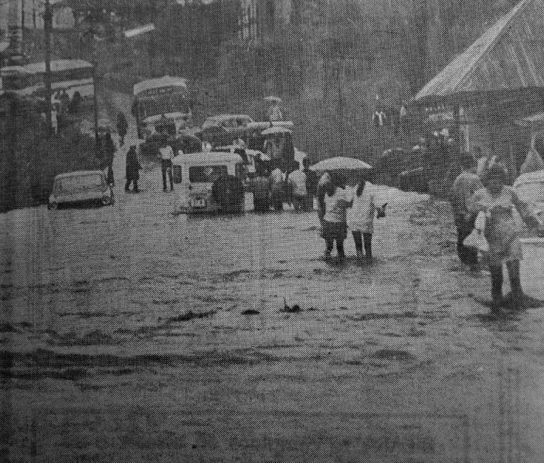 Today 50 years ago: Torrential downpour caused flooding in San José