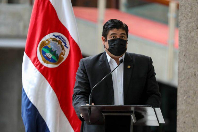 Carlos Alvarado officially resigned his presidential pension
