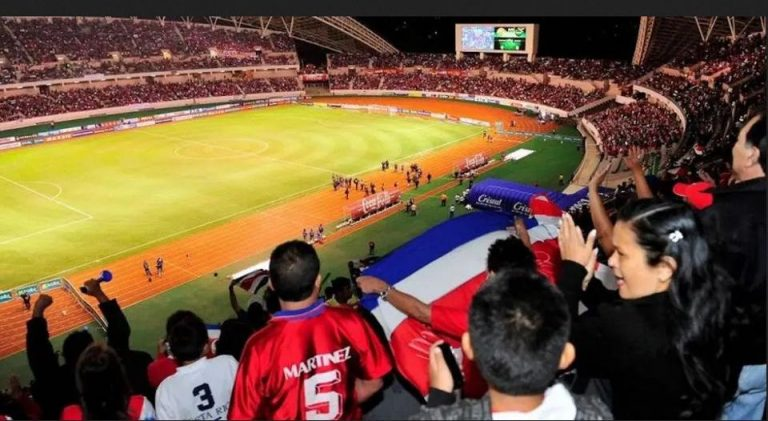 No fans at the Costa Rica-El Salvador game at the National Stadium