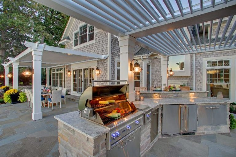 Adding Pergola with Louvered Roof to Your House