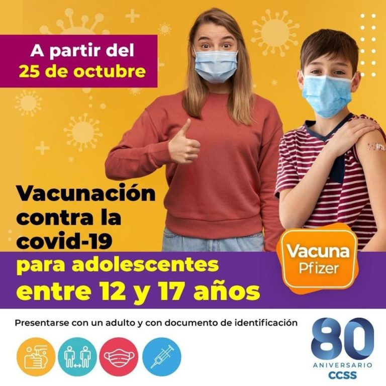 Monday starts vaccination against covid-19 for 12 to 17 year olds